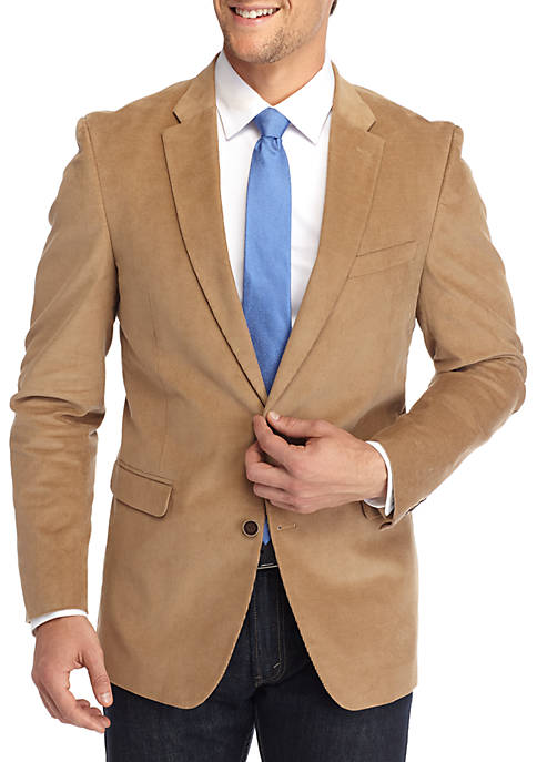 Classic-Fit Stretch Cord Sport Coat With Elbow Patches
