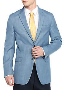 Classic-Fit Blue Twist Bray Sport Coat