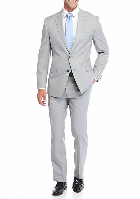 Classic-Fit Solid Wave Suit
