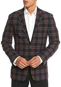 Navy Red Multi Plaid Sportcoat