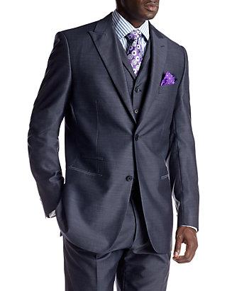 Steve Harvey Mens Check Regular Fit Suit Separate Pant