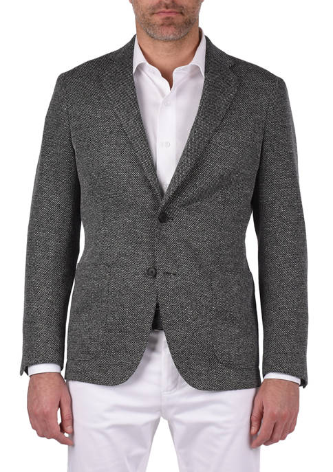 Azure Mens Rodino Gray Tick Weave Bi-Stretch Slim