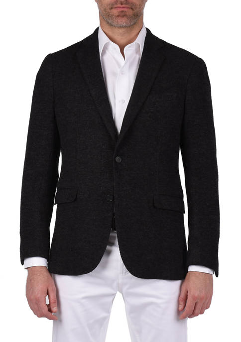 Steve Harvey® Mens Rodino Charcoal Solid Slim Fit