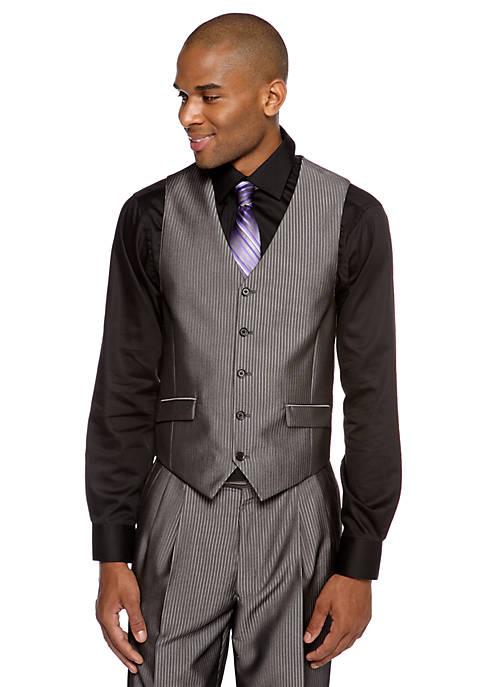 Steve Harvey 174 Classic Fit Pinstripe Suit Separate Vest Belk