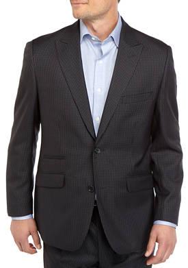 Mens Blue Black Check Sport Coat