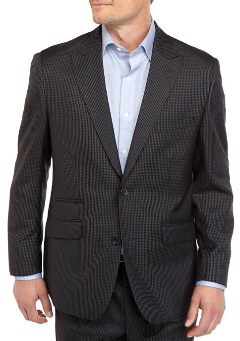 Steve Harvey® Mens Blue Black Check Sport Coat