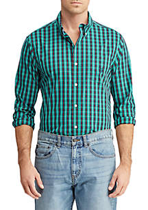 Easy Care Stretch Cotton-Blend Long-Sleeve Shirt
