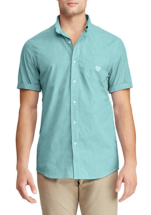 Big & Tall Short Sleeve Easy Care Button Down Shirt
