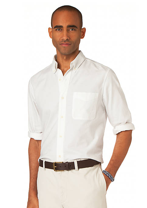 Chaps Solid Oxford Woven Shirt