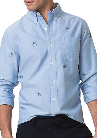 Chaps Embroidered Oxford Shirt