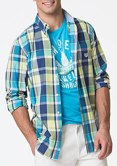 Chaps Plaid Poplin Shirt