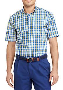 Short-Sleeve Stretch Cotton Shirt