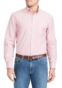 Long Sleeve Oxford Woven Button Down Shirt