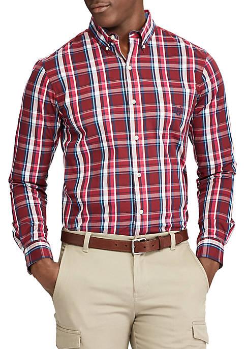 Plaid Cotton-Blend Shirt