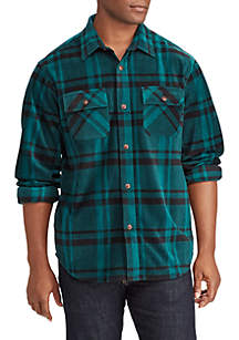 Plaid Fleece Shirt Jacket