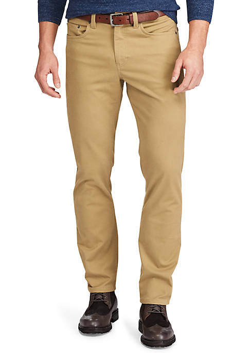 Straight Fit Five Pocket Pants