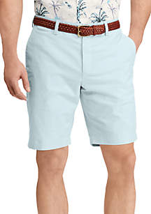 Stretch Oxford Flat Front Short