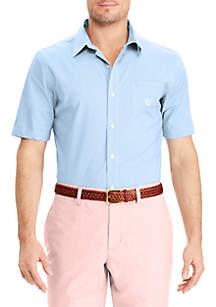 Big & Tall CVC Easy Care Short Sleeve Button Down Shirt