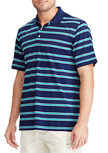 Striped Performance Polo Shirt