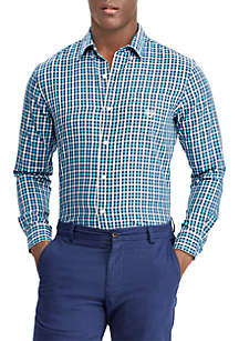 Checked Performance Twill Shirt