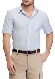 Chaps Cotton-Blend Short-Sleeve Shirt