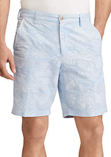 Print Linen-Cotton Short