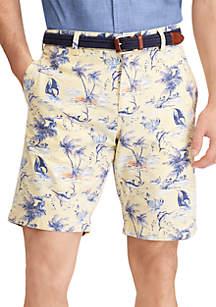 Print Cotton Shorts