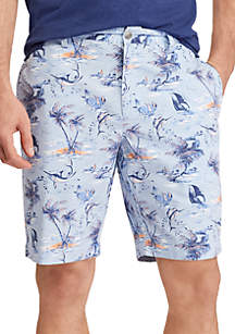 Print Cotton Shorts