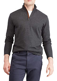 Chaps Cotton Mockneck Pullover