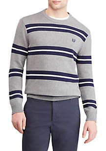 Striped Cotton Crew Neck Sweater