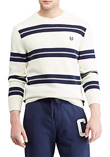 Striped Cotton Crewneck Sweater