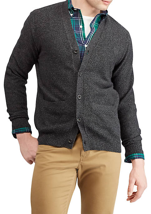Chaps Cotton V-Neck Cardigan