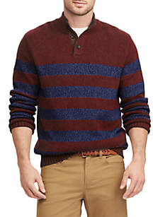 Elbow Patch Mock Neck Sweater