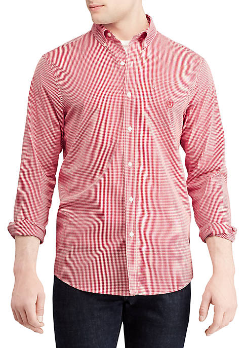 Chaps Easy Care Stretch Cotton-Blend Long Sleeve Shirt