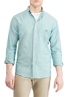 598f8e7076d Chaps Stretch Oxford Button-Down Shirt ...