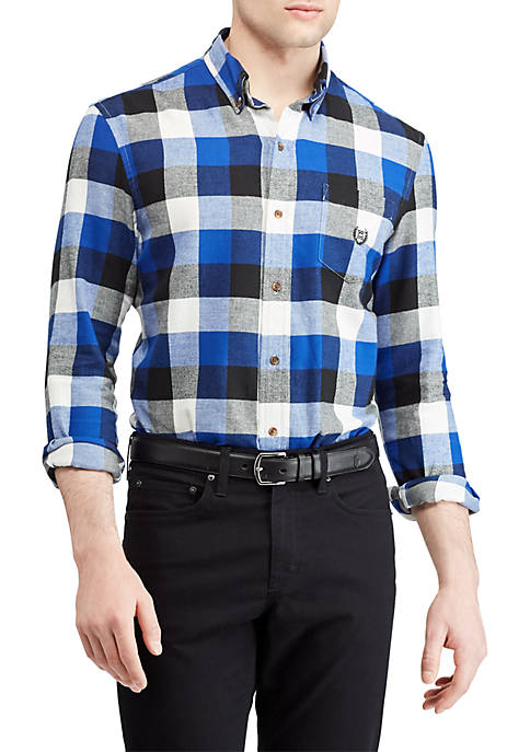 Chaps Plaid Performance Flannel Shirt