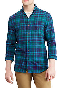 Plaid Performance Flannel Shirt