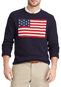 Heritage Collection Flag Cotton Crewneck Sweater