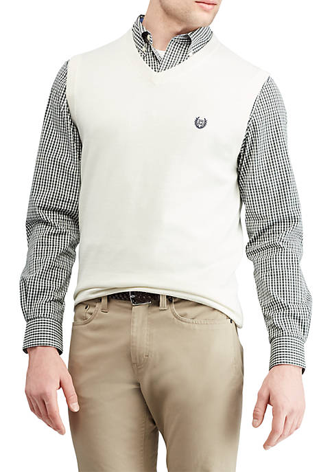 Chaps Cotton V-Neck Sweater Vest
