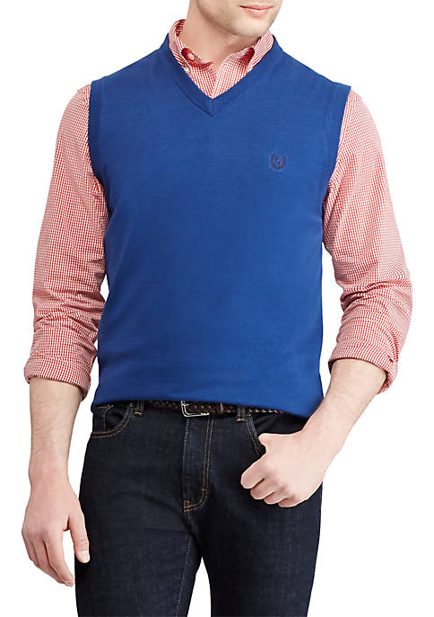 Chaps Solid Sweater Vest