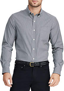 Chaps Easy Care Stretch Cotton-Blend Long-Sleeve Shirt