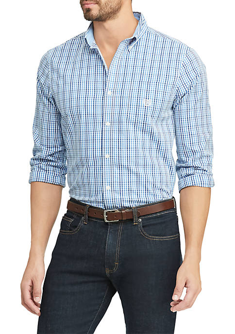 Easy Care Stretch Cotton Long Sleeve Shirt