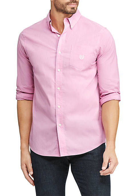 Chaps Easy Care Stretch Cotton Long Sleeve Shirt