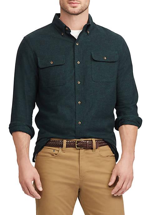 Chaps Cotton Twill Utility Shirt