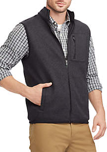 Fleece Mock Neck Vest