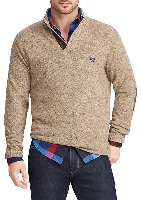 Chaps Cotton Mock Neck Sweater Dress