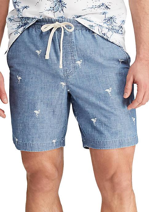 Chaps Chambray Drawstring Shorts