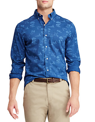 Chaps Mens Long Sleeve Stretch Easy Care Button Down Shirt
