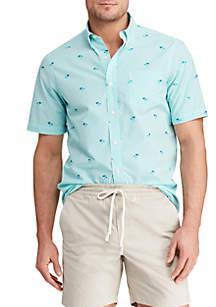 Chaps Printed Cotton Short Sleeve Shirt