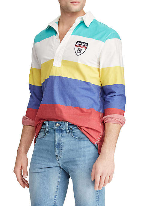 Chaps Long Sleeve Colorblock Shirt